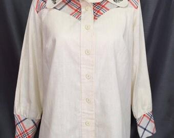Vintage weatern Womans blouse sz 42