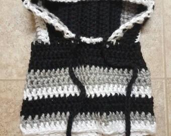 SCOODIE - Black, white n gray Scoodie