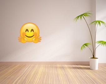 Hug Emoji Vinyl Wall Decal