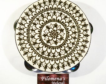 Henna mandala, Gift for women, Asian art, Gift for girls, Functional art, Stocking stuffer, Indian gift, Coachella Festival, Party nights