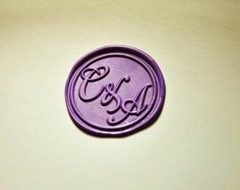 Personalized 2 initials monogram wax seal stamp sealing wax wedding invitation wax seals