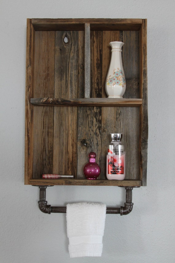 Industrial Shelf Reclaimed Wood Shelves Medicine