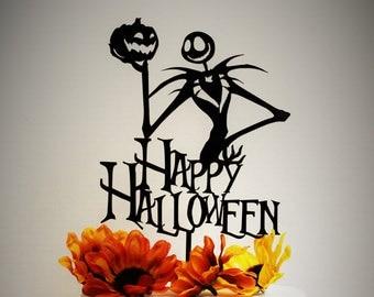 Happy Halloween & Jack Skellington Cake Topper - Nightmare Before Christmas