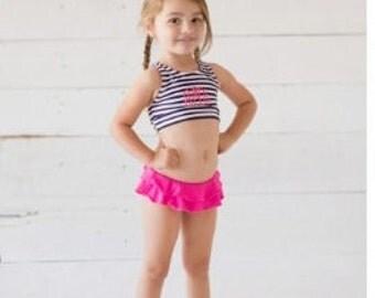 Personalized Girls Bikini Swimsuit, Monogram Bikini, Toddlers Monogram Bathing Suit, Girls Monogram Swimsuit, Monogram Swimming Suite,