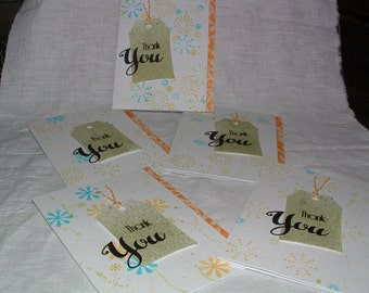 Five Thank You Cards