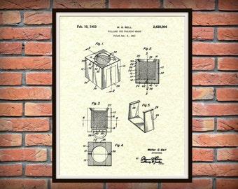 Patent 1953 Billiard Chalk - Art Print - Poster- Pool Cue Chalk - Pool Hall Art - Billiard Hall Art - Pool Stick Chalk - Pool Stick Chalk