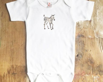 Baby Zebra Bodysuit - Animal Bodysuit - Baby - Baby Zebra - Baby Girl - Baby Boy - Body suit - baby shirt - Zebra - Safari