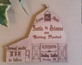 Save the date barn wedding, wedding save a date, rustic wedding, barn wedding, unique wedding