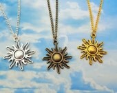 Sun Necklace, Sunshine Jewellery, Happy Gift, Happiness Jewelry, Weather Necklace, Summer Jewelry, Symbol Necklace, Charm Necklace, Cute