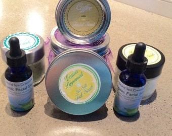 Homemade sugar scrubs, Facial Scrubs and Foot scrubs with your choice of Essential oils