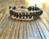 Black Recycled Magazine Beaded Bracelets