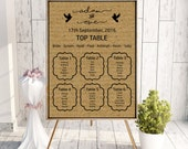 Kraft table plan kraft card wedding plan rustic wedding stationery wedding seating plan printable table plan wedding seating plan.