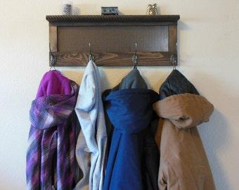wall coat rack with shelf