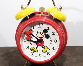 Mickey Mouse alarm clock from the 70s-80s, Walt Disney