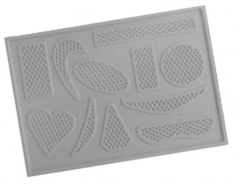 CelCakes & CelCrafts Lattice Celshapes Moulds 11 shapes