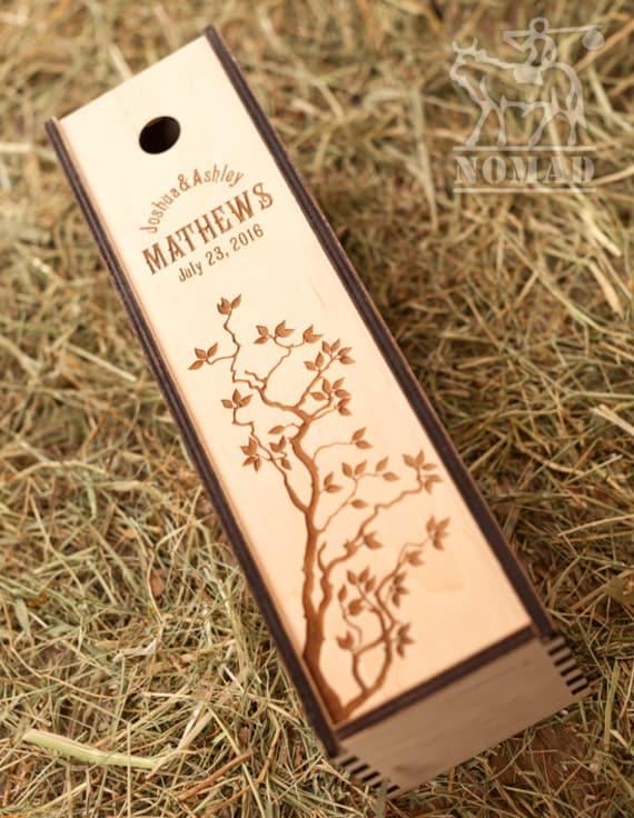 Wedding Gift Box Wine : Wedding Wine Box Wine Box Personalized Wedding Wine Box