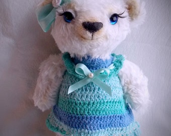 Blanche, little teddy bear, plushie, soft toy, stuffed animal