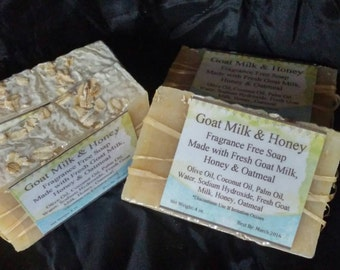 Soap Sale! Goat Milk and Honey-All Natural-Fragrance Free