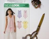 New Look 6213 / Blouse Sewing pattern / Multi size 6-16 Euro 32-42 / Cute top sewing project