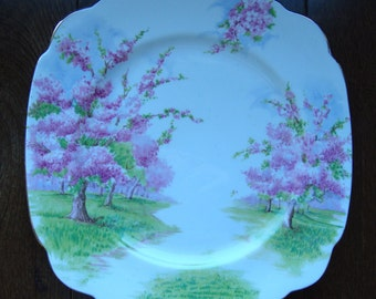 Blossom Time - Dinner Plate - Royal Albert Bone China England - Scenic - Trees with Pink Apple Blossoms - Starter or Replacement Pieces
