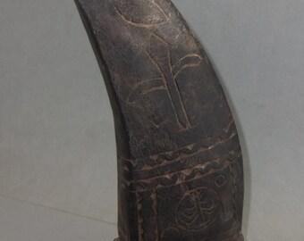Old Wooden Handmade Ritual Shaman Object for Ceremonies Beak Shape from Nepal, Shaman Utensil Art, Himalaya Folk Art, FREE SHIPPING