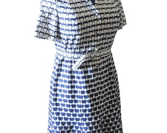 Retro Blue and White Sweetie Dress