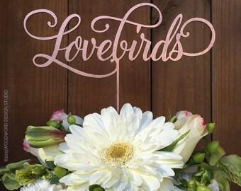 Wedding Cake Topper - Lovebirds