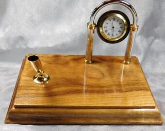 solid walnut clock etsy. Black Bedroom Furniture Sets. Home Design Ideas