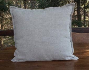 Classic Linen Pillow, Decorative Throw Pillow Cover, organic 100% Lithuanian linen. Couch Pillow Slip Cover