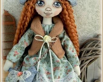fabric soft doll Brenda rag doll cloth doll мягкая тряпичная кукла Mother's Day мягкие игрушки текстильная кукла handmade doll ooak