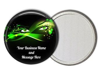 10 Custom Bulk Pocket Mirrors, Bulk Order,Lash Envy, 2.25 inch Pocket Mirror, Wholesale.