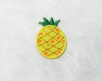 Pineapple Iron on Patch(S) - Pineapple Applique Embroidered Iron on Patch-Size 2.2x3.3cm
