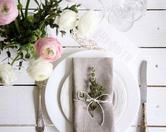 Dinner napkins set - Wedding napkins set of 30 - Natural Linen Napkin - Cloth napkins - Gray linen napkin - Restaurant napkins