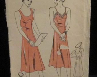 Vintage 1940's Slip Lingerie Sewing Pattern
