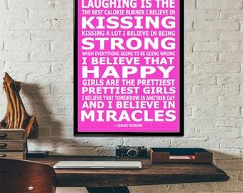 Audrey Hepburn Quote Art Print (10 sizes available)