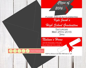 th grade graduation invitations  etsy, invitation samples
