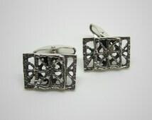 Modernist Pentti Sarpaneva Turun Hopea Pitsi Vintage Sterling Silver Cufflinks Turku Finland 1975