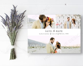 Personalised Printable, Save-the-Date-Printable Photo Card - Lydia Collection