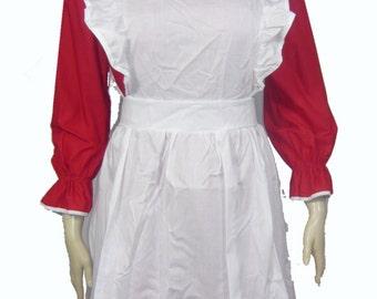 Mrs Claus Santa Christmas Outfit Costume Dress Size Medium DC0105