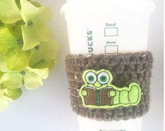 Book Worm // Coffee Cozy