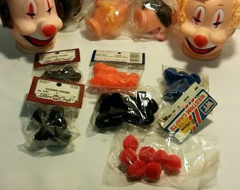 Scary Clown Doll Parts - New