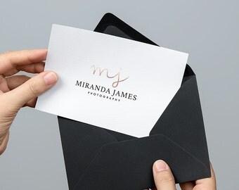 Initials Photography Logo | Blogger logo | Modern Logo | Pink Gold Logo | Rustic Logo | Business Logo | Event Logo | Boutique Logo