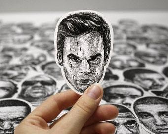 Scribbled Dexter Morgan (Michael C. Hall) - Vinyl Sticker