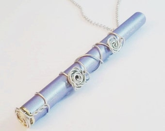 Hand Made Double Rose design MONQ Holder Necklace