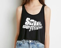 """5 seconds of summer 5SOS """"sounds good feels good"""" boxy,cropped tank"""