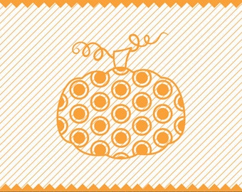NEW! Pumpkin with Polka Dot Clipart, Polka Dot Pumpkin for Cricut, Fall SVG, Halloween SVG,Highest Quality Instant Download Etsy Store, Diy