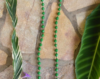 Paper Bead Necklace (Green)