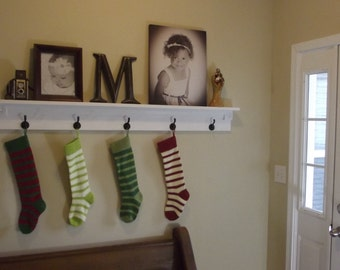 Entryway Mantle Coat/Hat Rack 30""