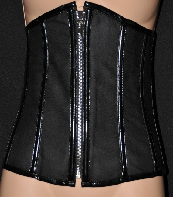 Lovely zippered bustier, goth or cross-dressing fun, Sissy Lingerie