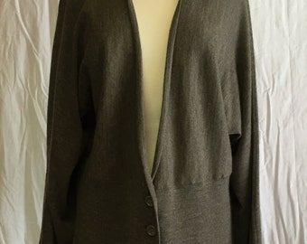"""Green Kimono Cardigan Sweater """"A Giannetti"""""""
